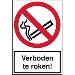 AMW ZK Bord Verboden te Roken 200x300mm
