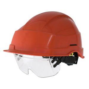 Friedrich Veiligheidshelm met bril rood Nr.421 CE/EN397/440V