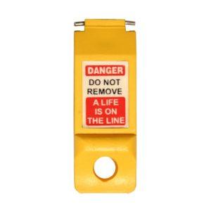 AMW Lockout Automaten vergrendeling – Pinnen naar buiten (Geel)