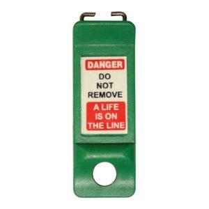 AMW Lockout Automaten vergrendeling – Pinnen naar binnen (Groen)