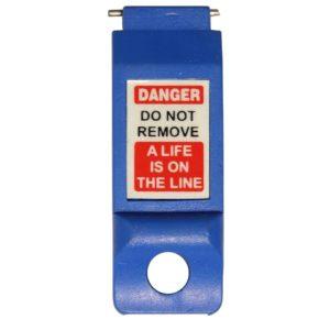 AMW Lockout Automaten vergrendeling – Pinnen naar buiten breed (Blauw)