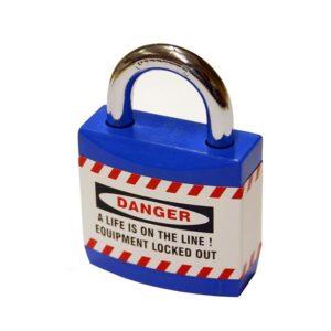 AMW Lockout Hangslot Blauwe Mantel 40mm