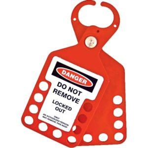 AMW Lockout Hangslotbeugel 6 gaten met label