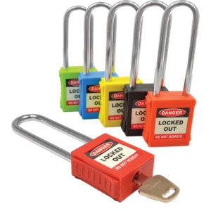 AMW Lockout Veiligheidsslot 82mm rood (6mm)